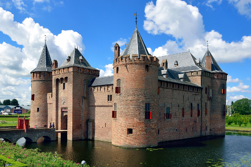Muiderslot, or Muiden Castle, part of the Unesco world heritage defence line around Amsterdam