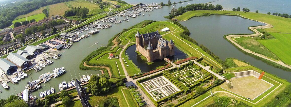 History Castle Muiderslot Amsterdam Tourist Ferry
